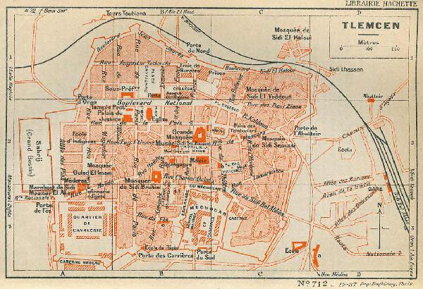 plan tlemcen ville 1830 1962 encyclopedie de l 39 afn ForPlan Tlemcen