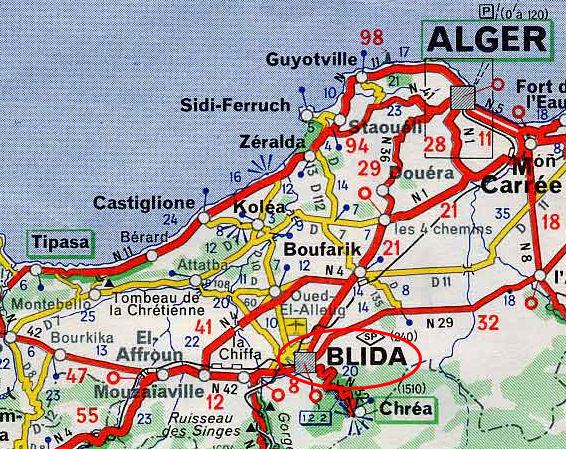 Carte Algerie Blida.Blida Ville 1830 1962 Encyclopedie De L Afn