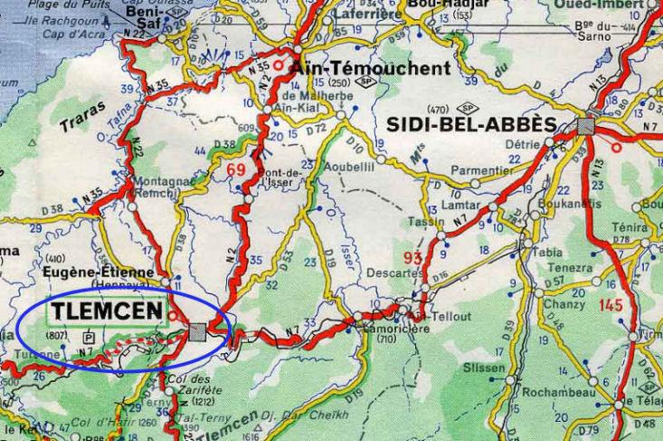Tlemcen ville 1830 1962 encyclopedie de l 39 afn for Plan tlemcen