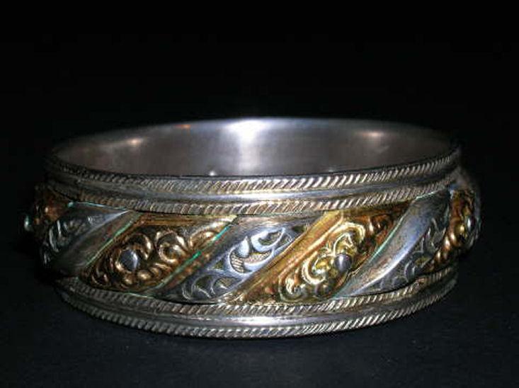Bracelet en argent marocain