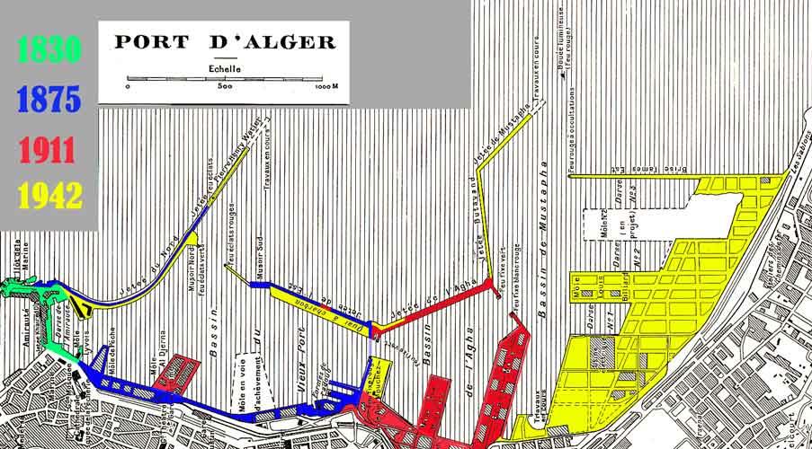 Quartiers alger ville 1830 1962 encyclopedie de l 39 afn - Port de marseille pour aller en algerie ...